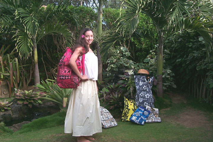The Regular Hula Bag Is Designed With Individual Pockets Sewn In To Hold Implements Including Pu Ili Bamboo Kala Au Sticks And Pebbles